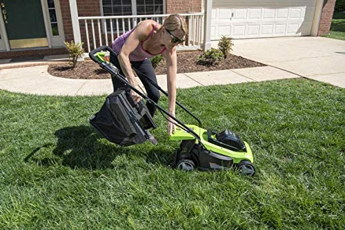 """51KONpH3nKL. AC  - Greenworks 24V 13"""" Lawn Mower, 4Ah USB Battery and Charger Included MO24B410"""