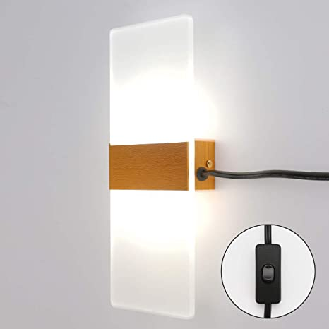 LED Gold Acrylic Lighting Wall Light Modern Bedroom Wall Lamp Living Room Light