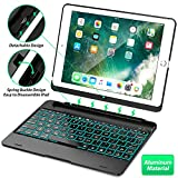 Tezzionas iPad Keyboard Case, 9.7' - Compatible with iPad 2018 (6th Gen), iPad 2017 (5th Gen), iPad Pro 9.7,' and iPad Air 1 and 2 - Features Detachable Design, Rotating Hinge and Adjustable Backlight
