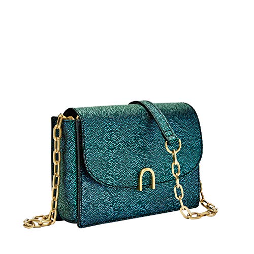 Fossil Ronnie Mini Bag Iridescent, One Size - Fossil Body Bag Mini Cross Leather Bag