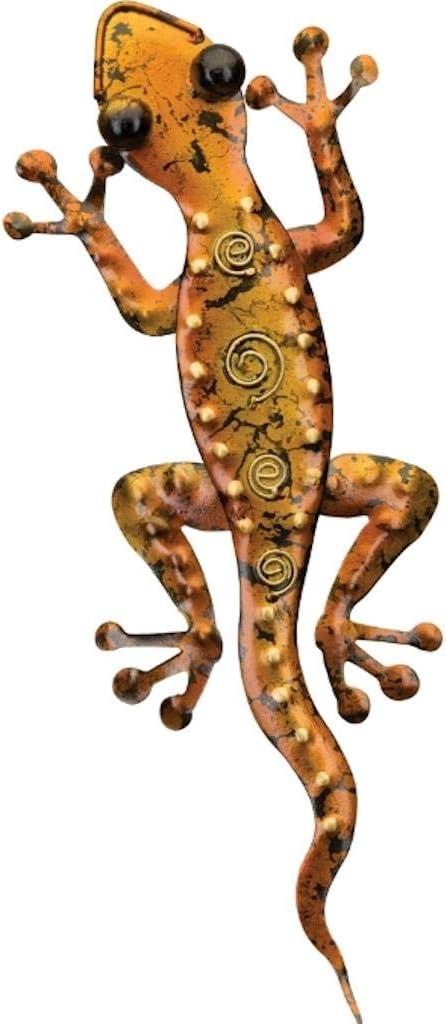 Regal Art & Gift 05525 Gecko Decor 11-Amber Wall Décor, Copper