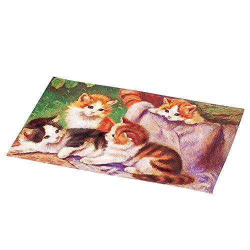 Collections Etc Cats in Sunshine Portrait Picture Outdoor Front Door Mat