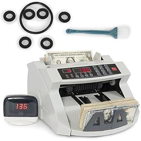 Money Bill Counter Machine Cash Counting Counterfeit Detector UV MG Bank Checker (Counterfeit Rolex)