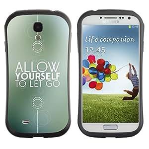 "Hypernova Slim Fit Dual Barniz Protector Caso Case Funda Para SAMSUNG Galaxy S4 IV / i9500 / i9515 / i9505G / SGH-i337 [Motivación regalo Recuerde minimalista""]"