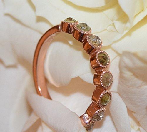 Diamond-Wedding-Band-Bohemian-style-Engagement-Band-Rustic-diamonds-14K-rose-solid-gold-Wedding-band-Rose-cut-natural-diamond-wedding-ring