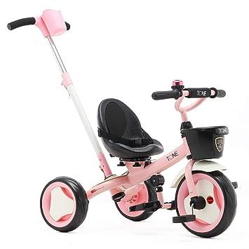 Minmin-chezi Triciclo de Dos Ruedas para bebés Dirección del bebé Empuje de Doble Uso