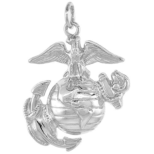 Sterling Silver Anchor Marines Pendant