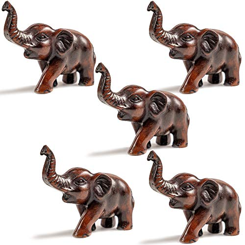IYARA CRAFT Resin Feng Shui Lucky Elephant Animal Sculpture - Decorative Elephant Family Statues on Wave - Ideal for Modern & Rustic Settings - Child of Elephant Animals Figurine Statue Sculpture. (Sculpture Elephant Resin)