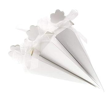 JZK 50 x Blanco cajas de regalo para arroz bombones caramelos detalle pequeñas regalo recuerdo para Invitados boda cumpleaños navidad fiesta ...