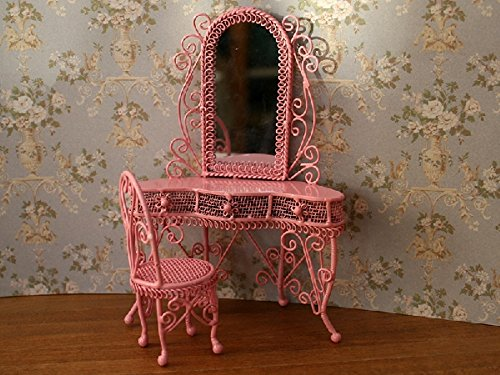 Carl Schmeider Dressing Table Set in Pink 1/12 Scale