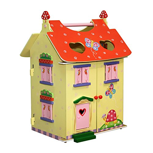 Fantasy Fields - Magic Garden Hand Carry Dollhouse with 7 Accessories & 2 Elfs - Multicolor