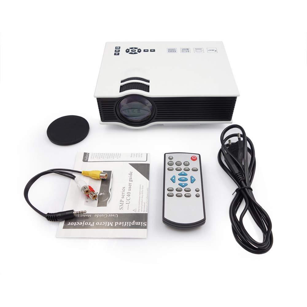 Proyector LED, Proyector 1200 lúmenes de Cine en casa Beamer con ...
