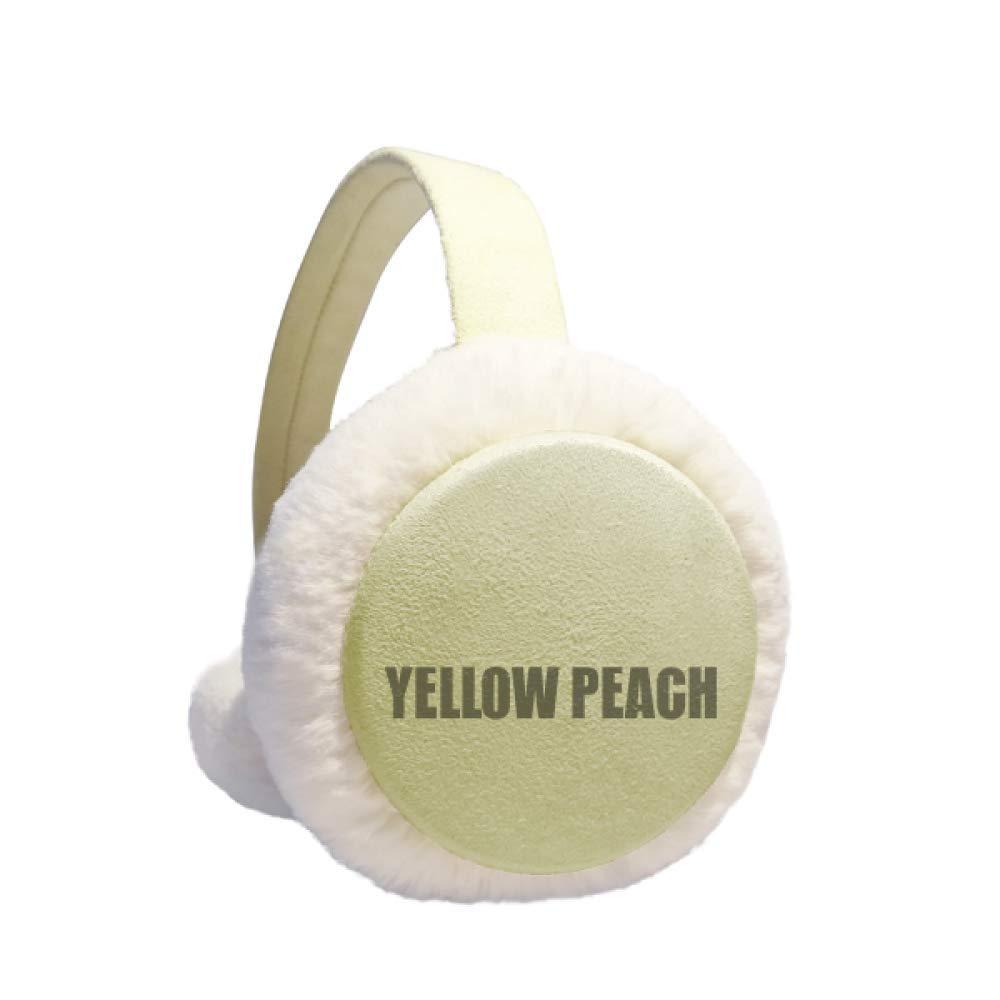 Yellow Peach Fruit Foods Winter Warm Ear Muffs Faux Fur Ear