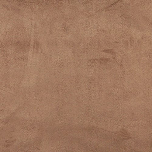 Mocha Brown Premium Soft Microfiber Suede Upholstery Fabric by the yard