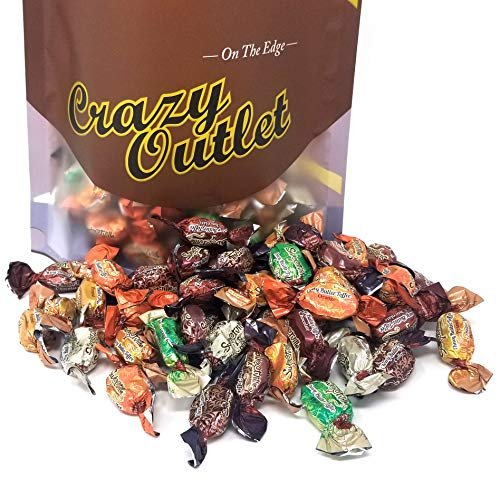 - CrazyOutlet Pack - Royal Chewy Butter Toffee Candy, Coconut, Peanut, Orange, Mint, Coffee and Chocolate Flavor Hard Candy, Bulk Pack, 3 lbs