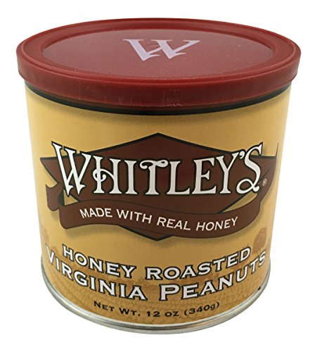 Whitley's Honey Roasted Virginia Peanuts 12 Oz. Tin by Whitley's