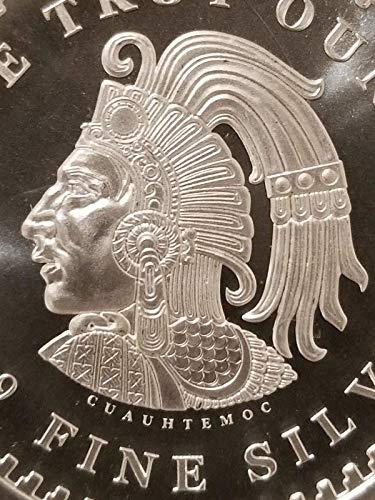 Eagle Warrior Emperor of Tenochtitlan NEW 1 oz .999 Silver Aztec Calendar Stone