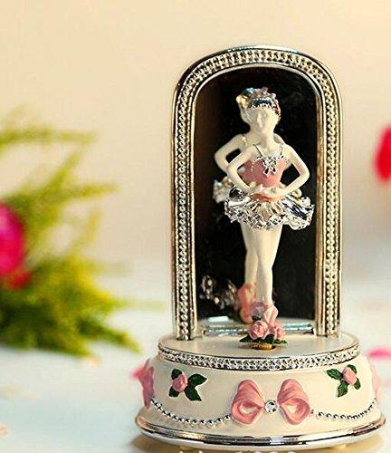 Udane Kreatives Feiertags-Geburtstags Elegante drehende Ballerina-Mädchen-Spieluhr für kreatives Geburtstags-Geschenk-Rosa B07JH2RCHP Spieluhren Sehr gute Farbe   Große Klassifizierung