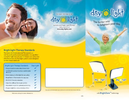 Day Light Classic Bright Light Therapy Lamp Provides 10000