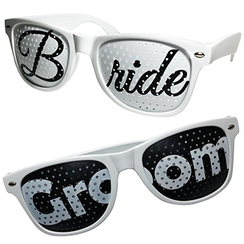 Bride and Groom Sunglasses- Fun and Unique Engagement Gift for couples by Wine Wraps LLC
