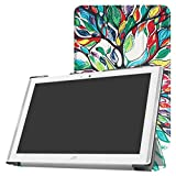 """Acer Iconia One 10 B3-A40 Slim Shell Case,Mama Mouth Ultra Lightweight PU Leather Standing Cover For 10.1"""" Acer Iconia One 10 B3-A40 Android 6.0 Tablet,Love Tree"""