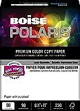 BOISE POLARIS PREMIUM COLOR COPY PAPER COVER, 8 1/2'' x 11'', Letter, 98 Bright White, 80 lb., 1500 Sheets/Carton, 40 Cartons/Pallet