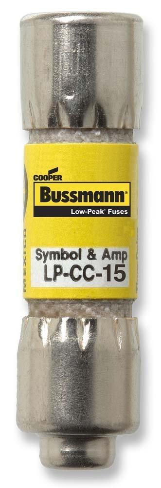 Cooper Bussmann Lp-Cc-15 - Pack of 10 -Low Peak Fuse Limit Time 15A Lp-Cc-15 - Pack of 10 - by Cooper Bussmann