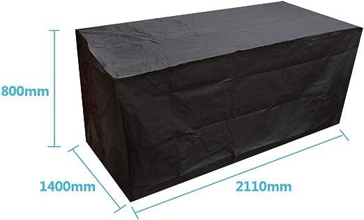 dDanke 210d Polyester Noir Housse de mobilier de Jardin ...