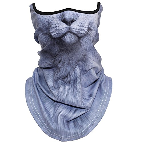 AXBXCX Animal 3D Prints Neck Gaiter Warmer Half Face Mask Scarf Windproof Dust UV Sun Protection for Skiing Snowboarding Snowmobile Halloween Cosplay British Shorthair]()