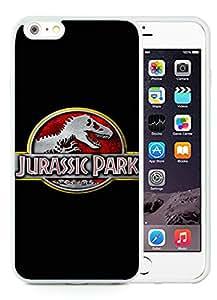 iPhone 6 Plus 5.5 inch Jurassic Park Logo White Screen TPU Phone Case Newest and Popular Cover