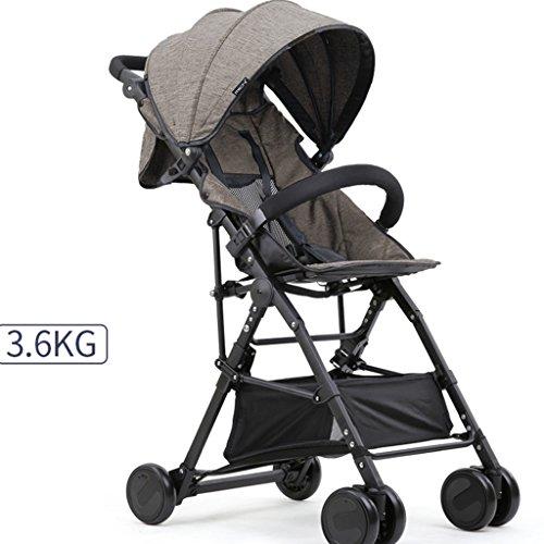 Strollers DD Carrito de bebé, el Cochecito Plegable se Puede sentar y Dormir Cochecito de bebé Durante 1 Mes - Carro de 4...