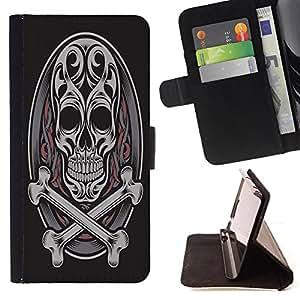 Dragon Case - FOR Samsung Galaxy S6 - Life is like music - Caja de la carpeta del caso en folio de cuero del tirš®n de la cubierta protectora Shell