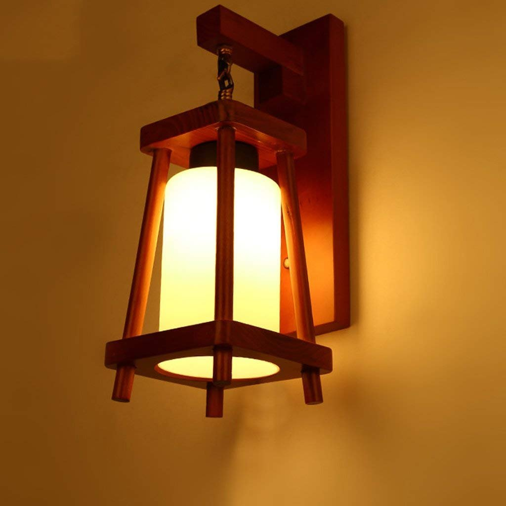 JU Zimmer Wandleuchte Moderne Lampe Gang Treppen Chinesische Kontinentalwand Terrasse Bar Amerikanische Studie Tür Holz Licht