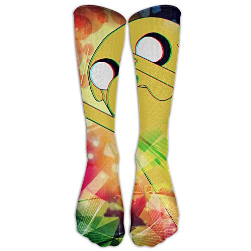 Adventure-time 1 Pair Over-The-Calf Socks Cosplay Socks Knee High Lightweight Ribbed Dress Stockings