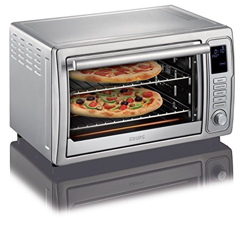 KRUPS OK710D51 Stainless Steel Deluxe Oven, 6 slices, with 8 preset functions and Adjustable cooking time, Silver...