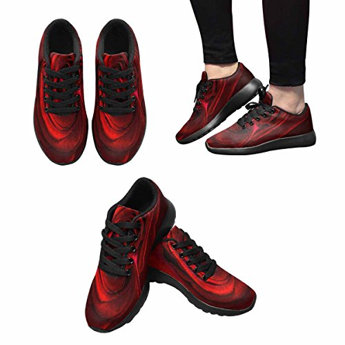 Scarpe Da Corsa Trail Running Da Donna Jogging Leggero Sportivo Da Passeggio Sneaker Atletico Rosa Rossa Petalo Multi 1