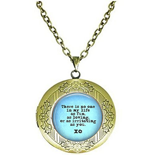 Snarky Quote Locket Necklace- Sibling Gift - There is no one in My Life as Fun, as Loving, as irritating as -