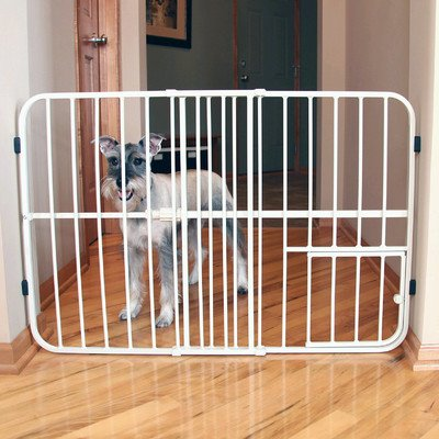 Carlson Pet Big Tuffy Expandable Gate With Small by Carlson (Image #1)