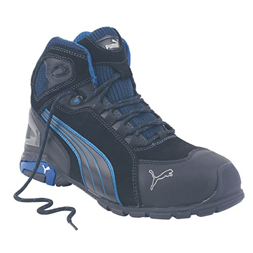 Puma Rio mid-safety Trainer Noir Bottes Taille 7