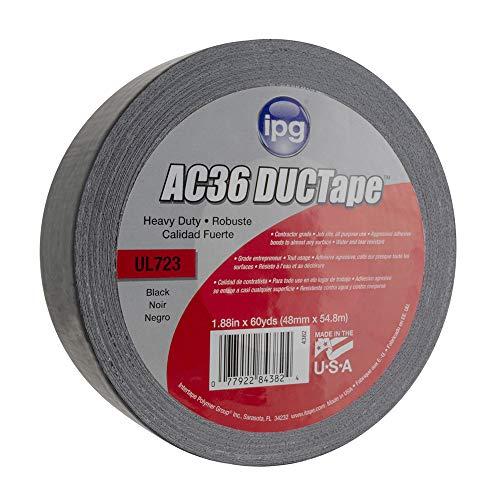 "IPG AC36 11 Mil Heavy Duty Duct Tape 1.88"" x 60 yd, Black"