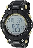 Armitron Adventure Men's AD/1010BLK Digital Multi-Function Black Textured Resin Strap Sport Watch