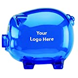 customized coins - Large Piggy Bank - 150 Quantity - $2.90 Each - PROMOTIONAL PRODUCT / BULK / BRANDED with YOUR LOGO / CUSTOMIZED