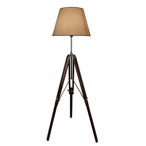 Amazon.com: MIR Lámpara de pie de madera vintage decoración ...