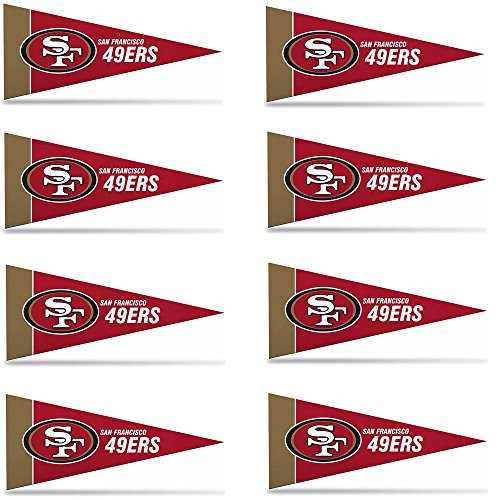 San Francisco 49ers Mini Pennants - 8 Piece Set