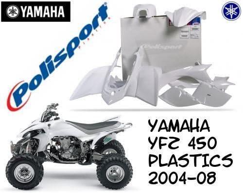 Blanco Yamaha YFZ 450/2004/ /2008/Completo Quad pl/ásticos Kit