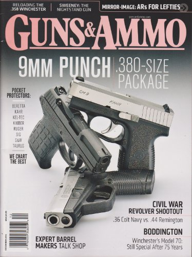 Guns & Ammo Magazine December 2012 (9mm Punch .380-Size Package)