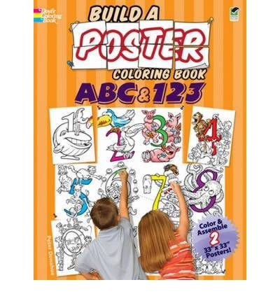 ABC & 123 (Build a Poster Coloring Books) (Paperback) - Common ebook