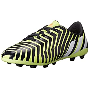 adidas Performance Predito FxG J Soccer Cleat (Little Kid/Big Kid), Yellow/White/Dark Grey, 4.5 M US Big Kid