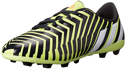 adidas Performance Predito FxG J Soccer Cleat (Little Kid/Big Kid), Yellow/White/Dark Grey, 4 M US Big Kid