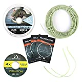 M MAXIMUMCATCH Maxcatch Best Price Trout Fly Fishing Line; Weight Forward, Floating Fly Line (1F/2F/3F/4F/5F/6F/7F/8F/9F/10F) (Moss Green Line Combo, WF2F)